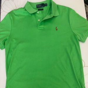 Bright Green Pima Polo